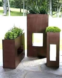 modern outdoor planters modern outdoor planters tall metal planters tall modern outdoor pots modern metal planters