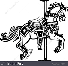 wooden carousel horse royalty free stock ilration