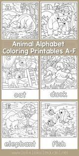alphabet coloring printables a f