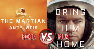 Book Vs Movie Venn Diagram Book Vs Film The Martian Litreactor