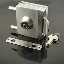 ing stainless steel glass door lock