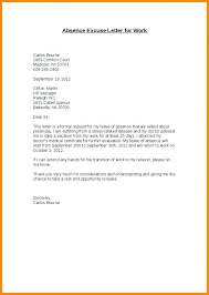 Business Apology Letter Template Excuse For Missing Work Absence ...