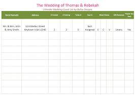 Wedding Guest List Template Excel Download Printable Wedding Guest List Template For Word And Excel