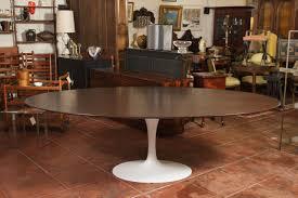 Dining Room Knoll Associates Eero Saarinen Walnut Oval Dining - Dining room tables oval