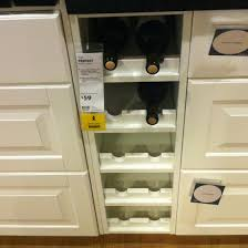 Wine storage built-in. Ikea. In their catalog they had these in the