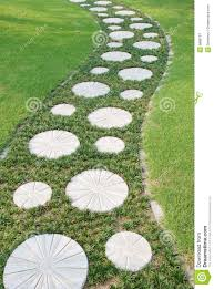 garden paths and stepping stones. curving stepping stone path in the garden royalty free stock royalty-free photo. download . paths and stones a