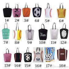 hot canvas bag baseball tote sports bags fashion softball bag football soccer basketball cotton canvas tote bag 18 styles leather purse womens purses
