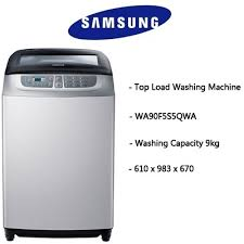 samsung top loading washing machine. [washing machine] samsung wa90f5s5 - 9.0kg top load washing machine (fully auto loading