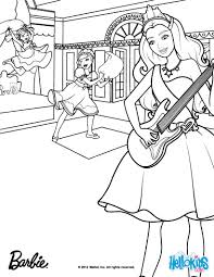 Small Picture Tori plays the guitar Barbie coloring page More Barbie the