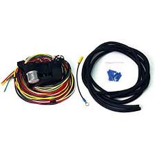 amazon com wisamic 10 circuit basic wiring harness fuse box street wisamic 10 circuit basic wiring harness fuse box street hot rat rod wiring box car truck