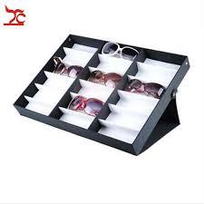 portable glasses storage display case box 18pcs eyeglass sunglasses optical display organizer frame tray