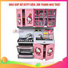Đồ chơi Nhà bếp búp bê Kitty siêu tinh xảo có đèn, âm thanh dc149 [ĐƯỢC  KIỂM HÀNG] - 38485695 | Ngôi nhà búp bê