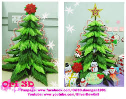 Tutorial 3D Origami Christmas Tree - Hng dn xp cy thng Origami 3D