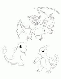 Pokemons Kleurplaten Charmander Olivinumcom Pokemon Coloring
