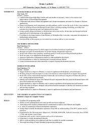 Mobile Developer Resume Mobile Developer Resume Samples Velvet Jobs