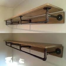 wood closet rod support brushed nickel closet rod