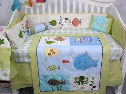 soho gold fish aquarium baby crib nursery bedding set 13 pcs