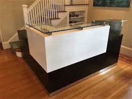 modern reception desk stylish reception desk with reception desk with glass display
