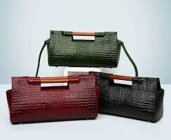 crocodile pattern women genuine leather bag