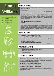 Architect Resume Template New Architect Resume Template In Green Color Vista Resume