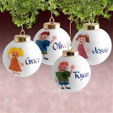 Kid's Customized Christmas Ornaments with Name on Front and Date on Back