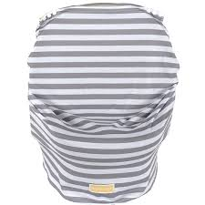 balboa baby car seat cover grey white stripe