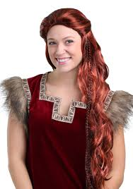 Viking Hairstyle Female red viking wig for women 7935 by wearticles.com