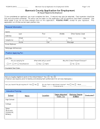Job Application Sample Sample Job Application Form PDF Bannock Country Application For 7