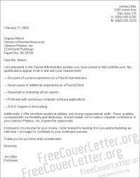 Payroll Cover Letter Payroll Administrator Cover Letter