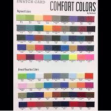 Comfort Colors T Shirts Color Chart Comfortcolors Color Chart Tshirt Colors Comfort Colors
