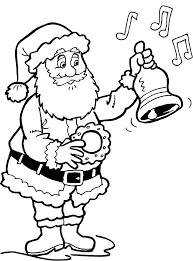 Kerstman Kleurplaat Printen