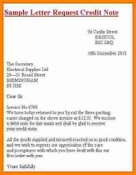 Credit Memo Letter 100 credit note format in word mail clerked 24