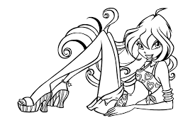 Locket Winx Club Coloring Pages For Girls New Winx Painting Games