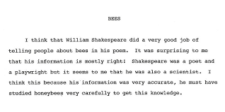 bees and shakespeare essay models of excellence bees and shakespeare essay