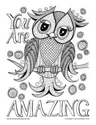 Small Picture Owl Coloring Pages Marvelous Coloring Pages Of Owls For Adults
