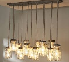 mason jar lantern chandelier candle diy 5
