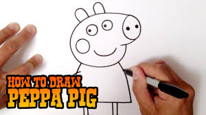How to Draw Peppa Pig - Step by Step Video Lesson - YouTube