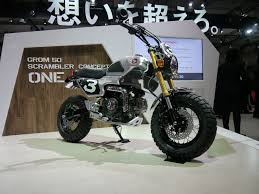 tokyo 2016 honda grom 50 concept one is a baby ducati scrambler