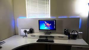 image of white corner desk ikea