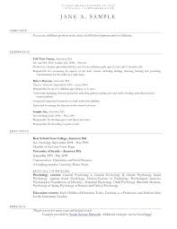 Resume Templates Examples 12 13 Child Care Educator Resume Sample Lascazuelasphilly Com
