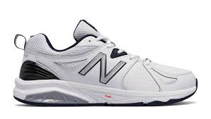 new balance shoes for men white. new balance 857v2, white with navy shoes for men