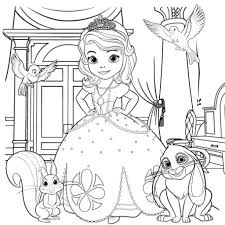 Sofia The First Coloring Pages To Print regarding Warm - Cool ...