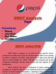 30755295 Swot Analysis Pepsi | Pepsi Co