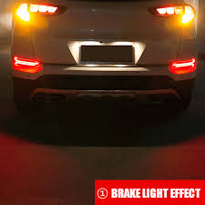 Hyundai Tucson Rear Light Pair Led Rear Bumper Reflector Lamp Drl Fog Driving Brake Lights For Hyundai Tucson 2017
