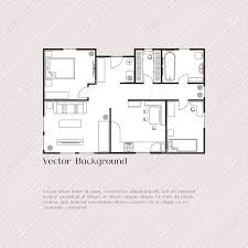 floor plan furniture vector. House Plan Background For Card, Banner, Presentation Template, Real Estate, Social Advertising Floor Furniture Vector