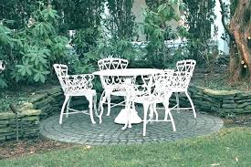 cast iron patio furniture set