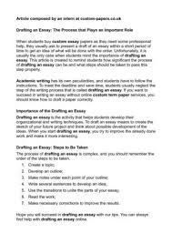 drafting an essay the process that plays an important role drafting an essay the process that plays an important role
