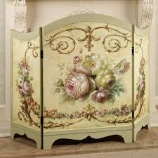 victorian fireplace screen roses antique cast iron fireplace cover
