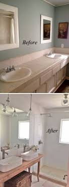 Image Tile Clean And Crisp Bathroom Renovation Hative Before And After 20 Awesome Bathroom Makeovers Hative