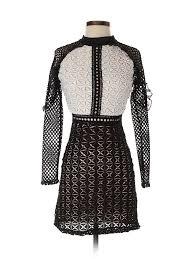 Renvy Size Chart Details About Renvy Women Black Casual Dress S